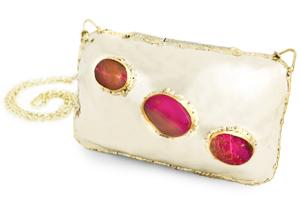 Bolso Frida piedras de Cuarzo rosa