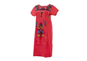 Vestido Coral bordados colores