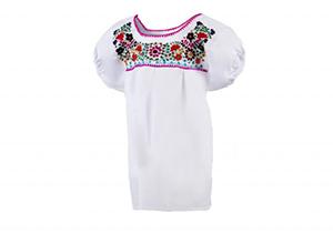 Camisa Blanca con ribete rosa