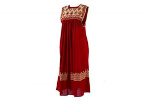 Rojo SM y bordados colores