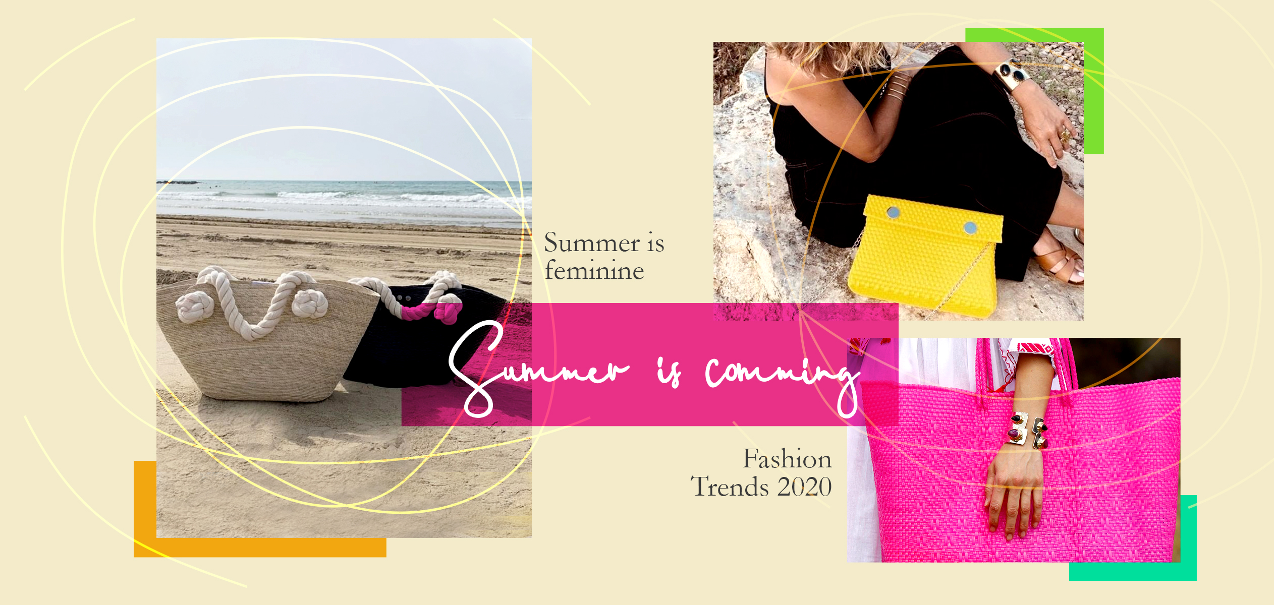 bolso plástico reciclados, fucsia, capazos, capazos nudo marinero, Pulsera piedras semipreciosas, accesorio, fashion, moda, fashion, complementos 2020