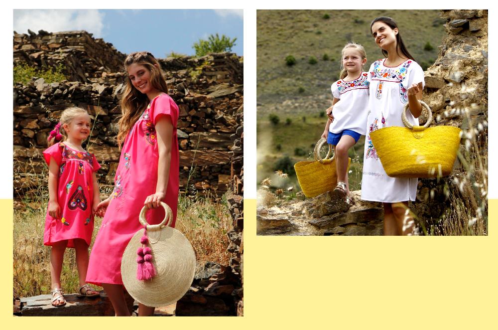 Lee más sobre el artículo Vestidos bonitos y artesanales para mamá: Moda sostenible para este verano 2021 e hija